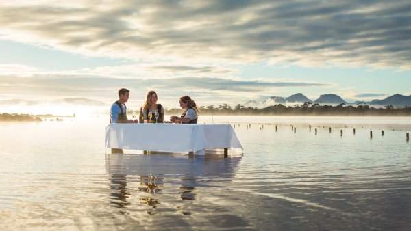 Oyster Experience at Great Oyster Bay, Tasmania