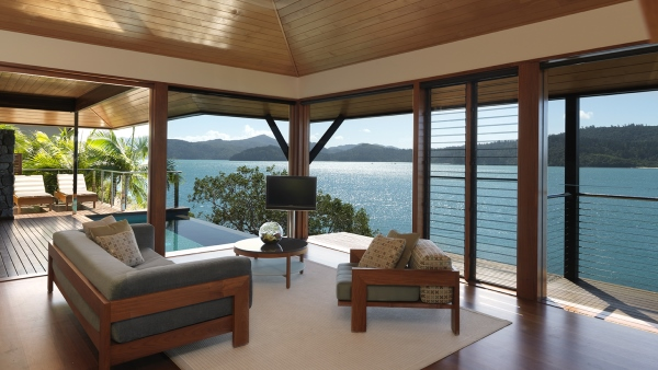 Qualia Luxury Lodge, executive suite, overlooking the Great Barrier Reef