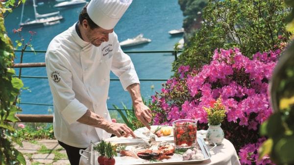 Chef at La Terrazza Restaurant at Belmond Hotel Splendido