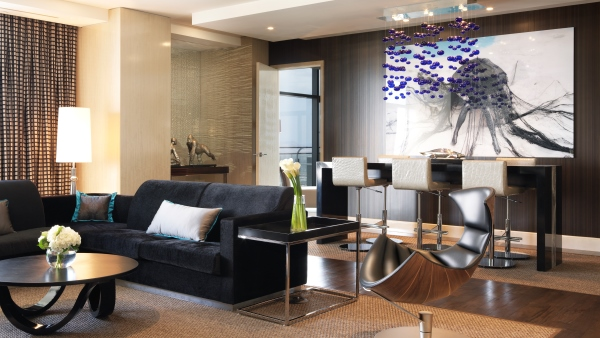 The Chelsea Penthouse living area at The Cosmopolitan of Las Vegas
