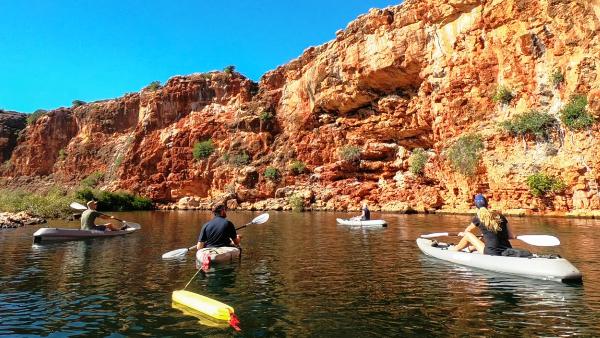 Kayaking at Yardie Creek