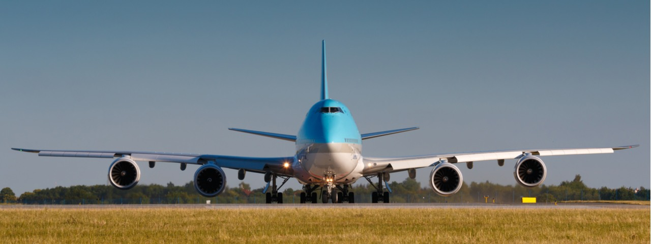 Boeing 747-8i air taxi preparing for takeoff.