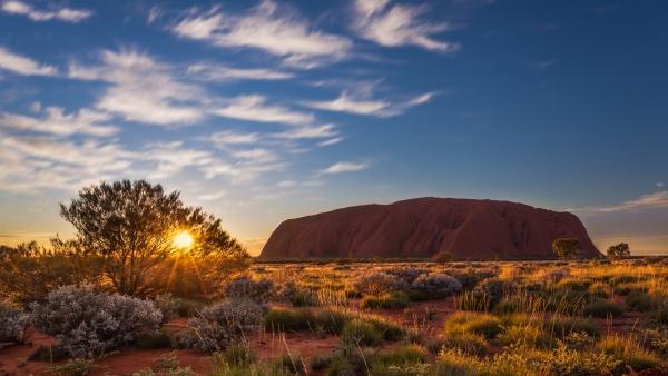 Uluru-Kata Tjuta National Park at sunset