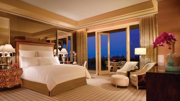WTS Fairway Villa Bedroom overlooking the golf course at the Wynn, Las Vegas