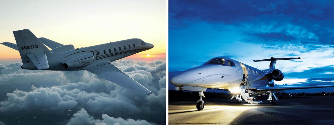 Cessna Citation Sovereign and Embraer Phenom 300