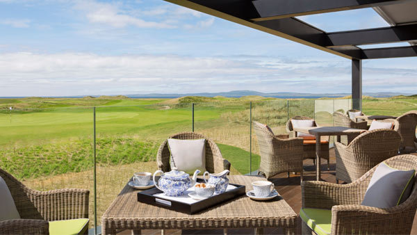 Afternoon tea on the terrace at The Machrie