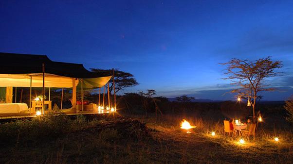 Private dinner night in the Kicheche Valley