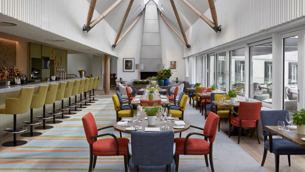 The luxury 18 restaurant and bar at The Machrie