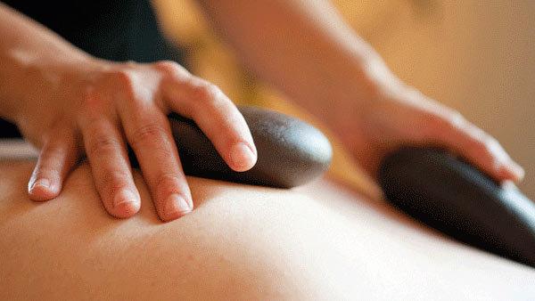 Hot stone massage at the PureGray Spa