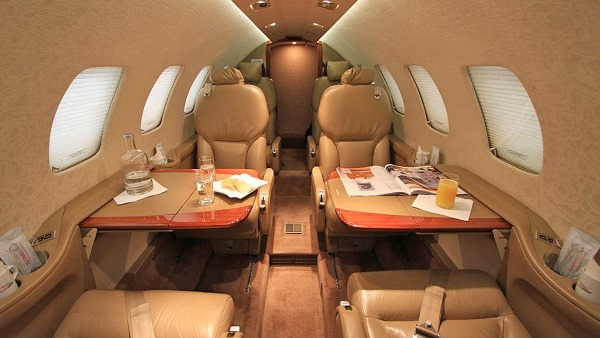 Interior of Cessna Citation Bravo
