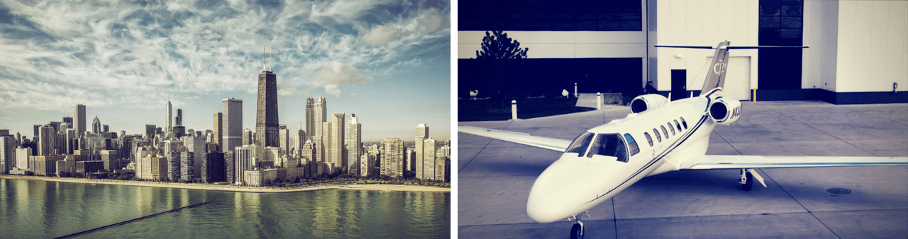 Private jet charter to Chicago