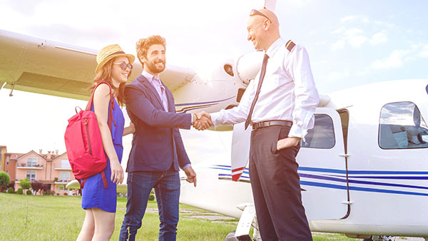 Couple and Pilot