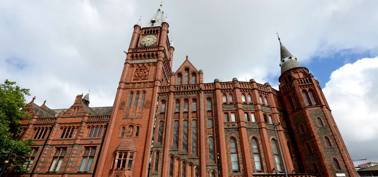 Red brick University of Liverpool building.