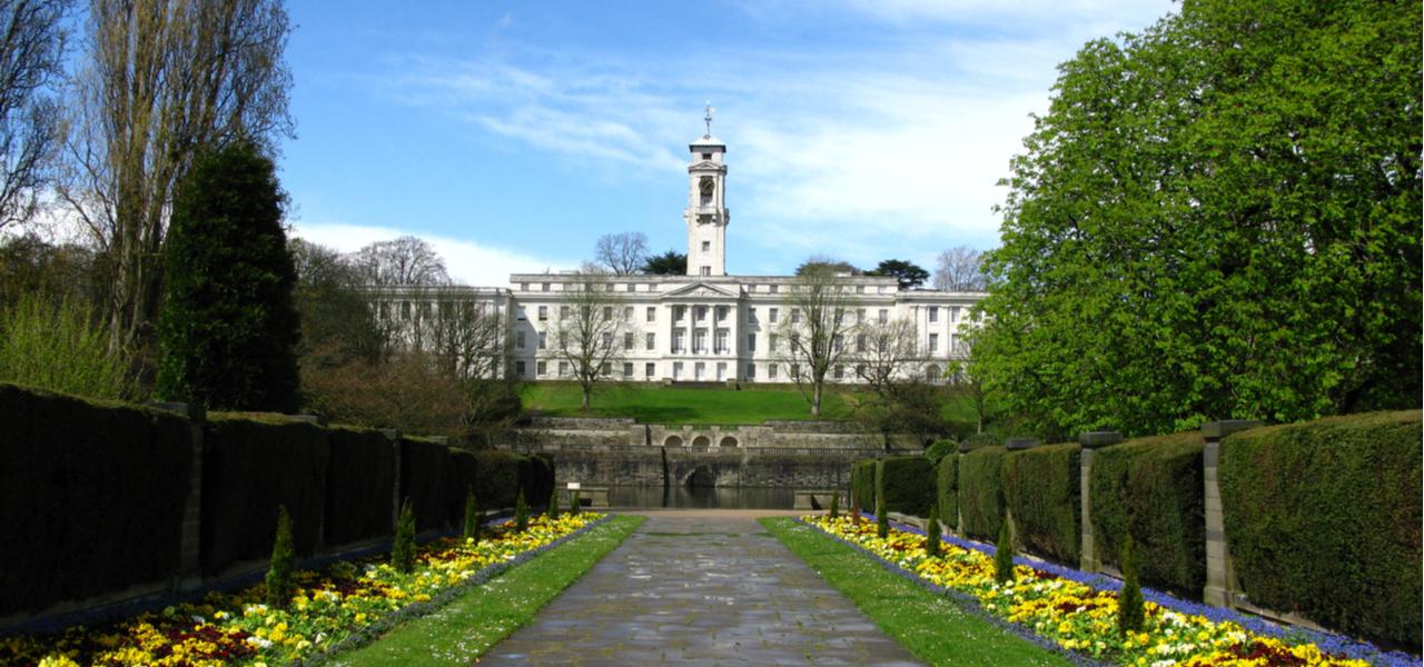 University building in Nottingham University Park.