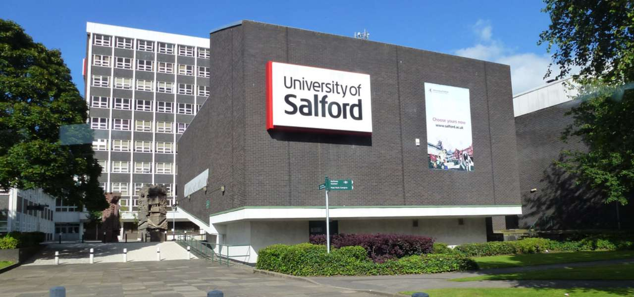 University of Salford entrance.