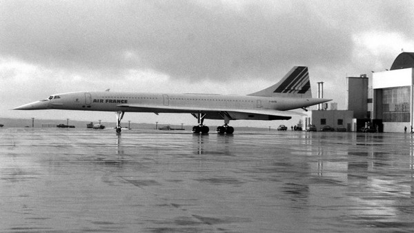 Photo of Concorde airplane the turbojet passenger aircraft that could travel at twice the speed of sound