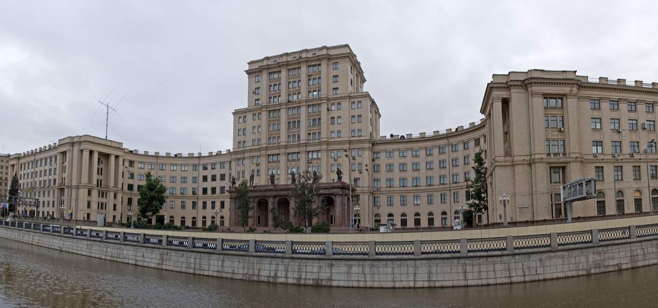 Front of the Moscow State Technical University from the water