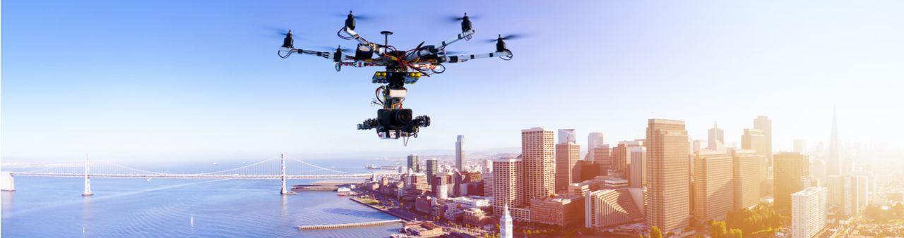 A drone surveillance aircraft