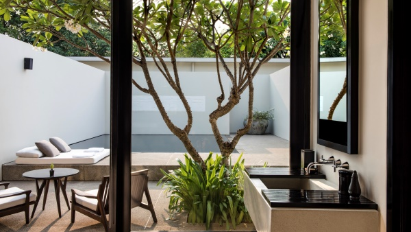 A luxury suite with tranquil private pool