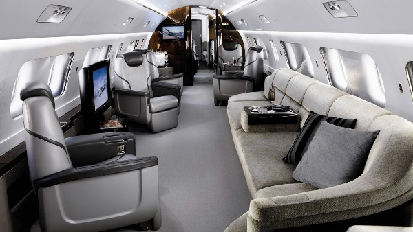 Interior of Embraer Lineage