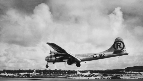 Enola Gay airplane the first aircraft to drop an atomic bomb