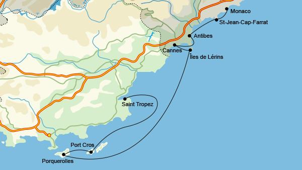 French Riviera itinerary