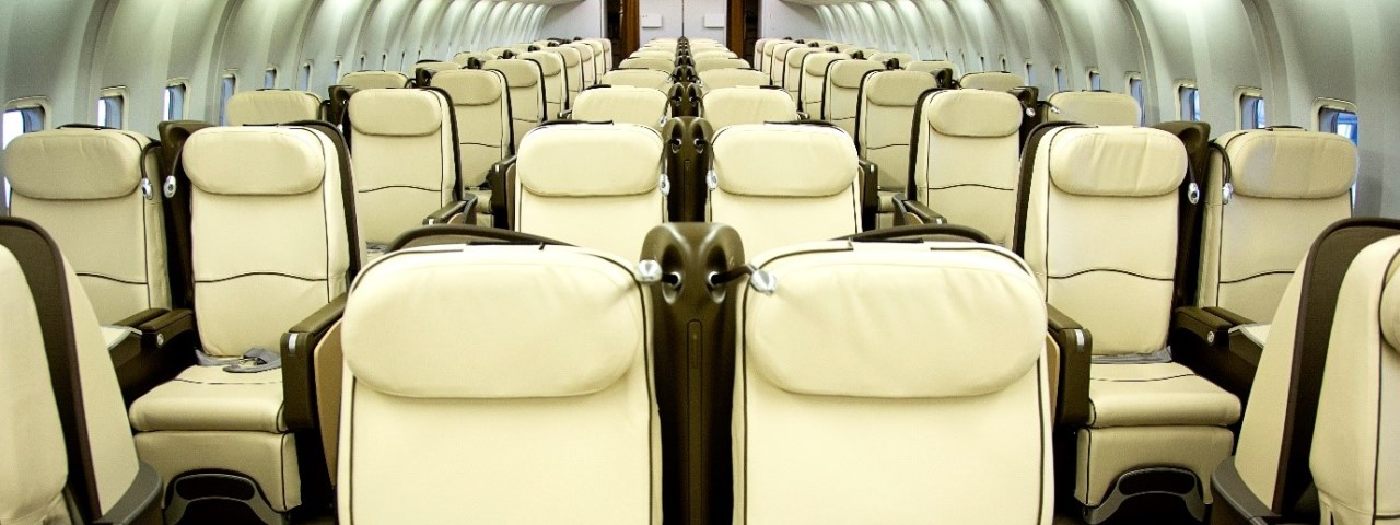 Boeing 767-300ER in a VIP configuration with 96 all-leather lie-flat seats