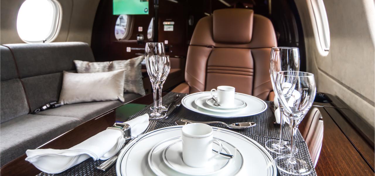 intérieur de jet de luxe