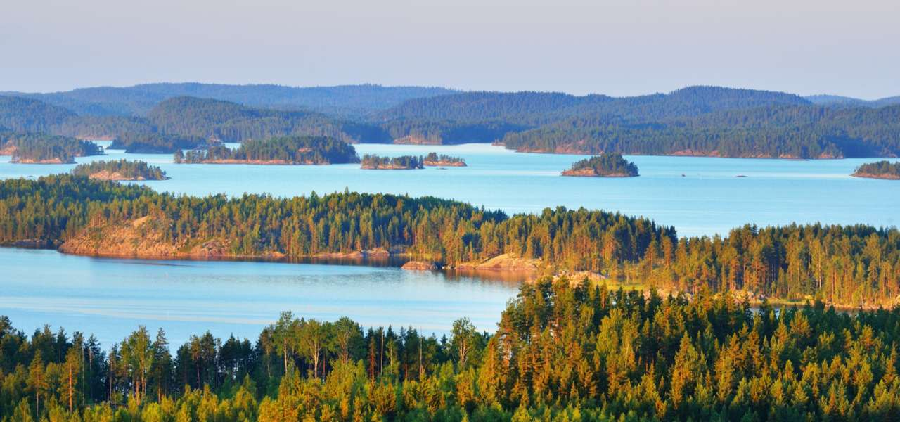 Daylight view of Lake Saimaa in Finland