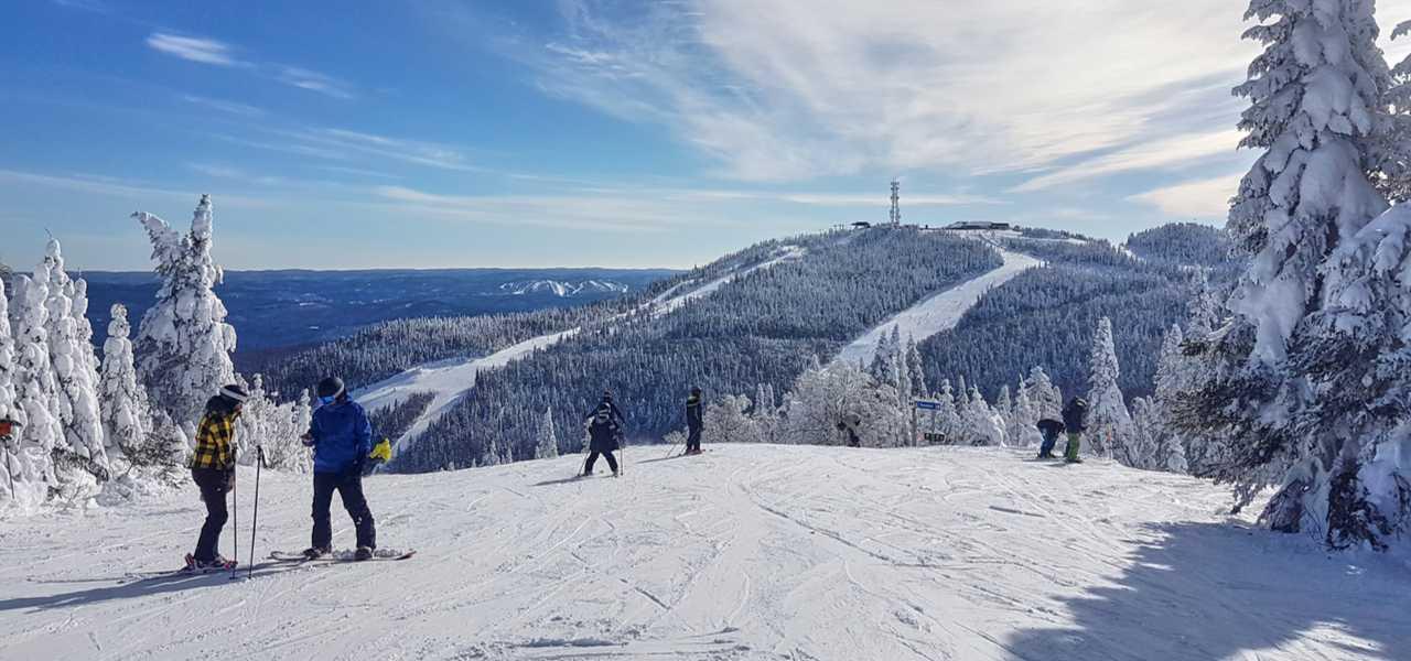 Scenic view of Mont-Tremblant ski resort in Quebec, Canada