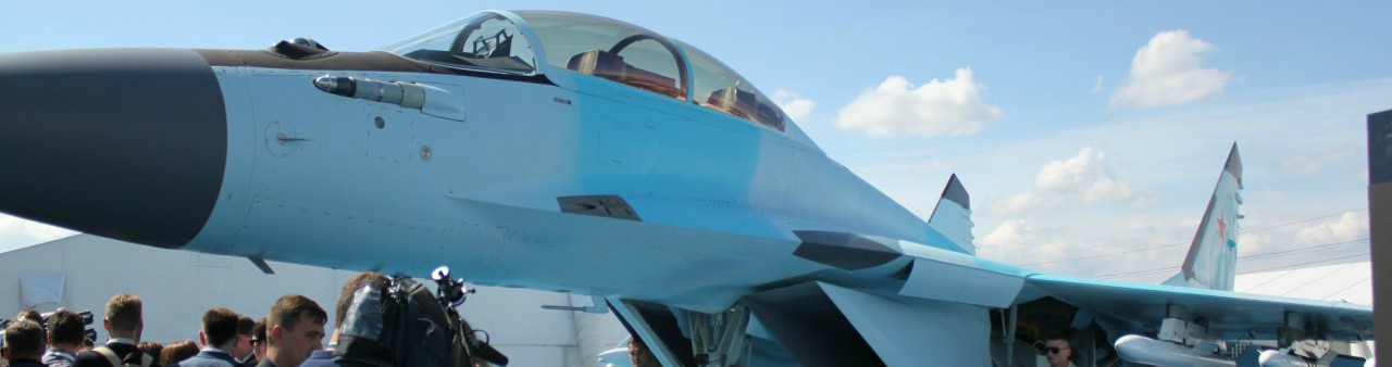 The MiG-35 fighter jet on show at the private aviation event MAKS Air Show 2017