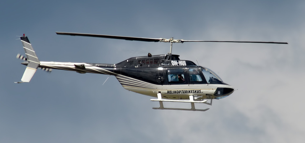 Bell 206 helicopter in flight