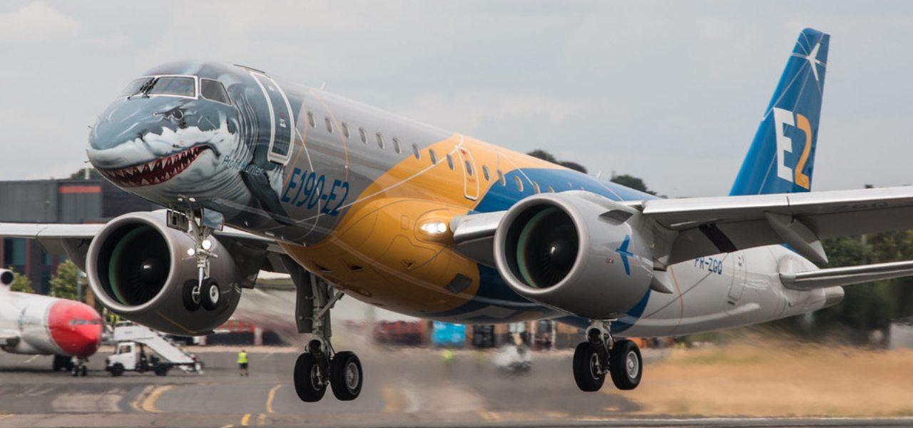 Shark branded Embraer Profit Hunter private jet