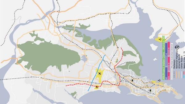 Map of Mumbai Including Airports