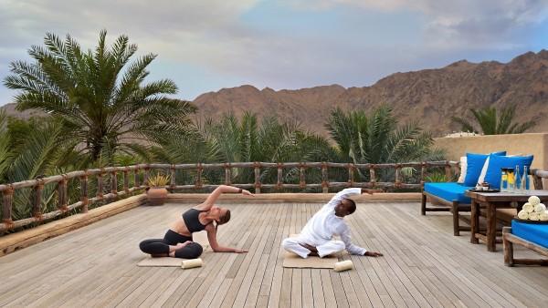 Yoga in the Spa at Six Senses Zighy Bay, Oman