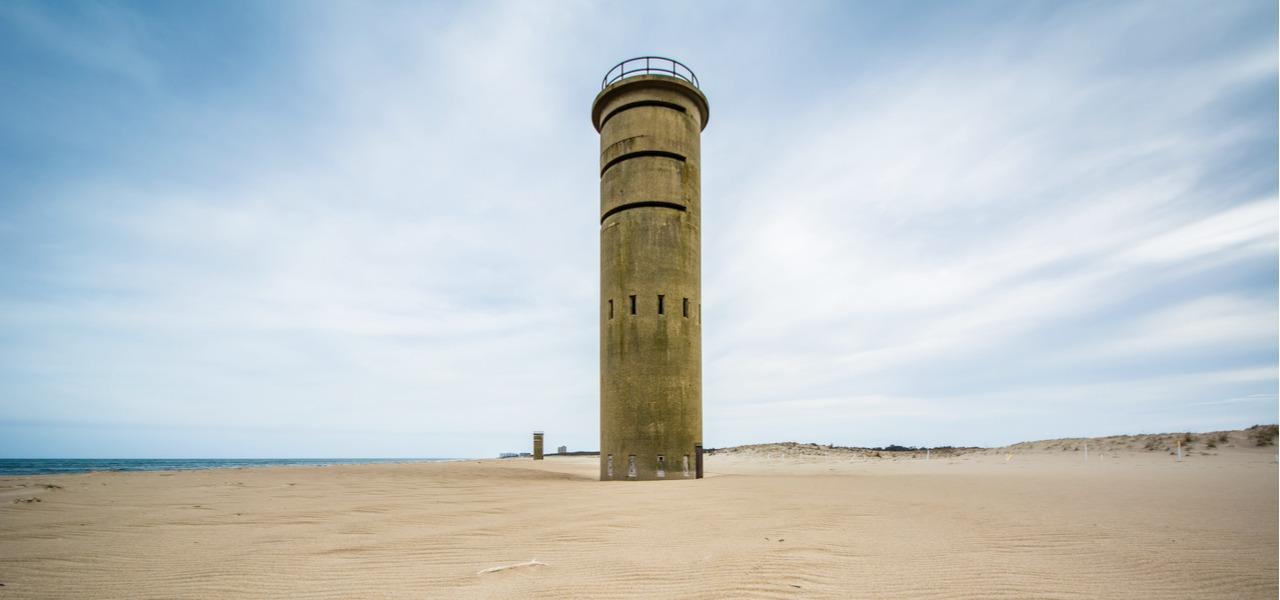 World War II observation tower at Cape Henlopen state park in Delaware.