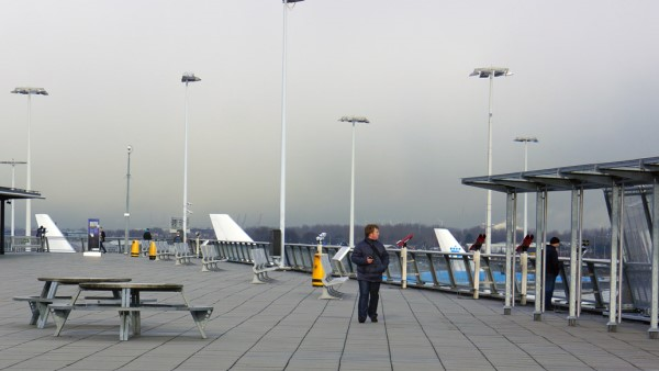 Observation deck at Amsterdam Schiphol Airport