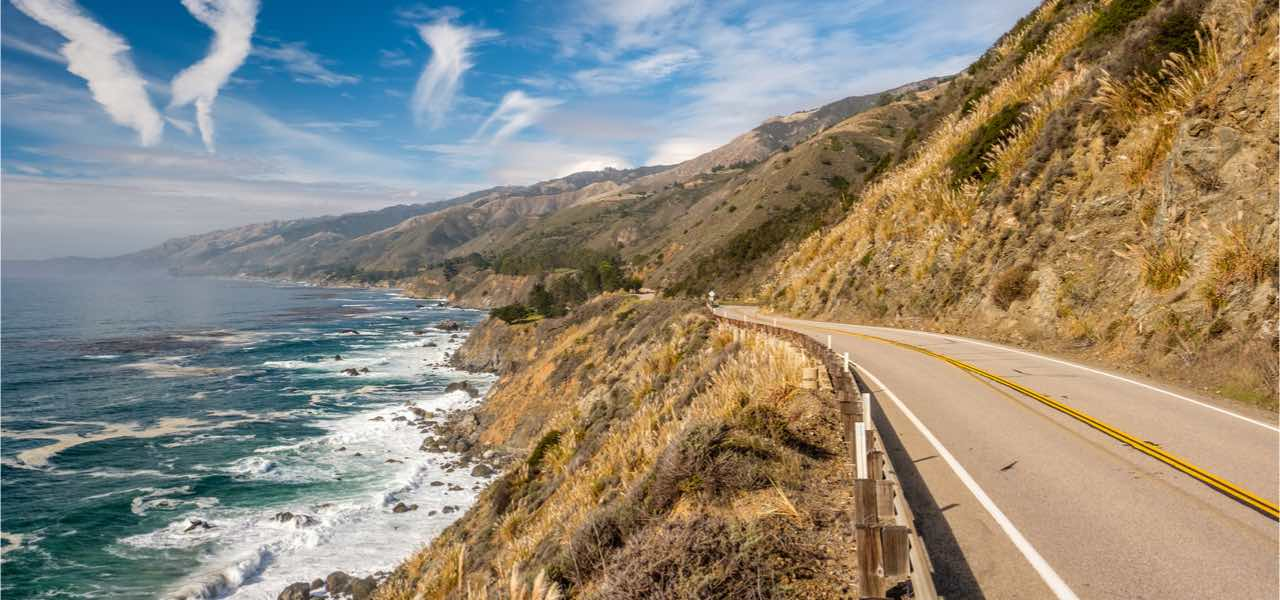 Highway 1 on the pacific coast in California