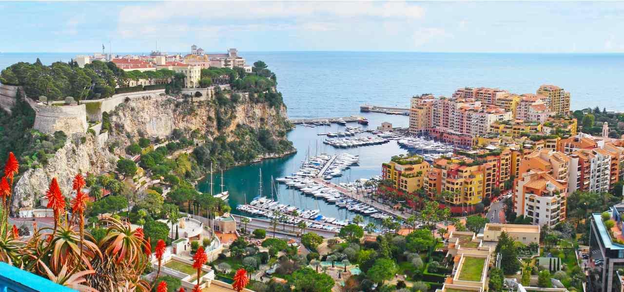 Panorama of Monaco coast