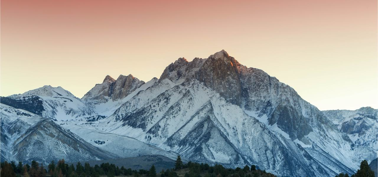 Sunset in the Eastern Sierra mountains, California