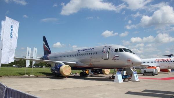 2017 MAKS Air Show: Sukhoi Superjet 100, Aeroflot