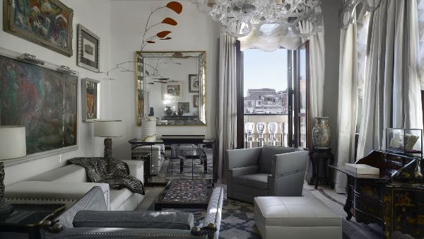 Patron Grand Canal Suite seating area, The Gritti Palace