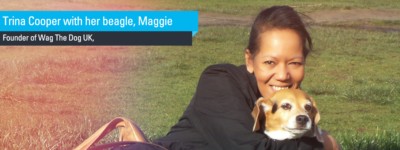 Trina Cooper with her beagle, Maggie