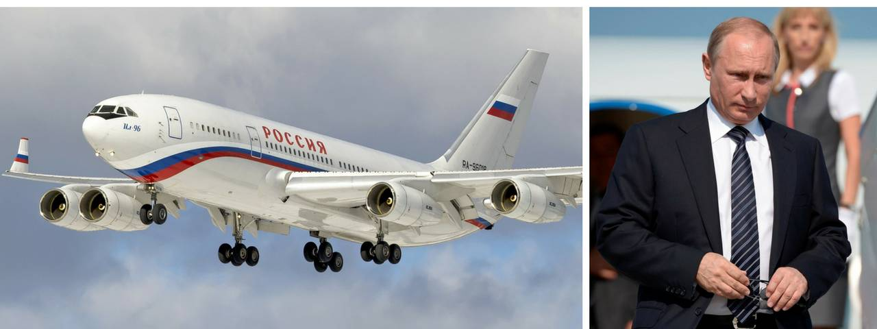 Vladimir Putin's aircraft with an on-board management centre is valued at $500 000 000