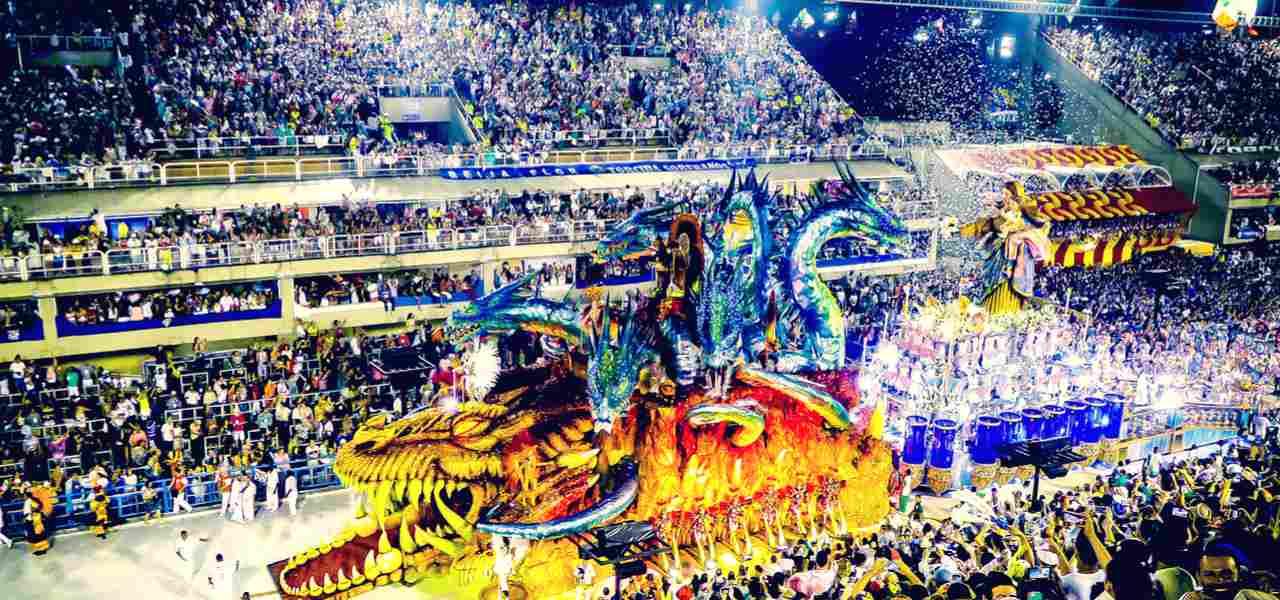 Carnival show in Sambadrome in Rio de Janeiro, Brasil