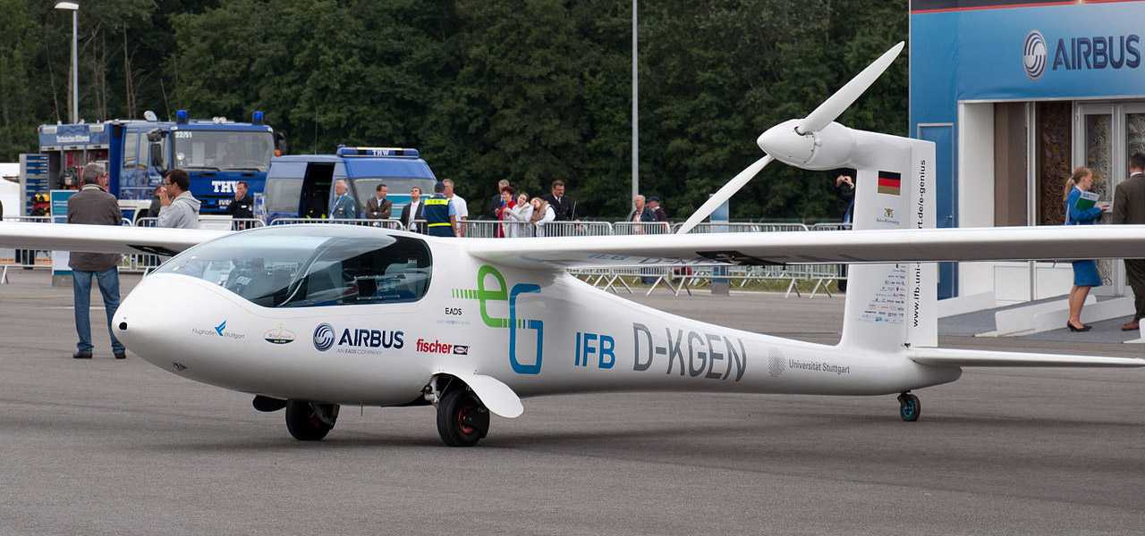 The Airbus e-Genius electric craft on the tarmac