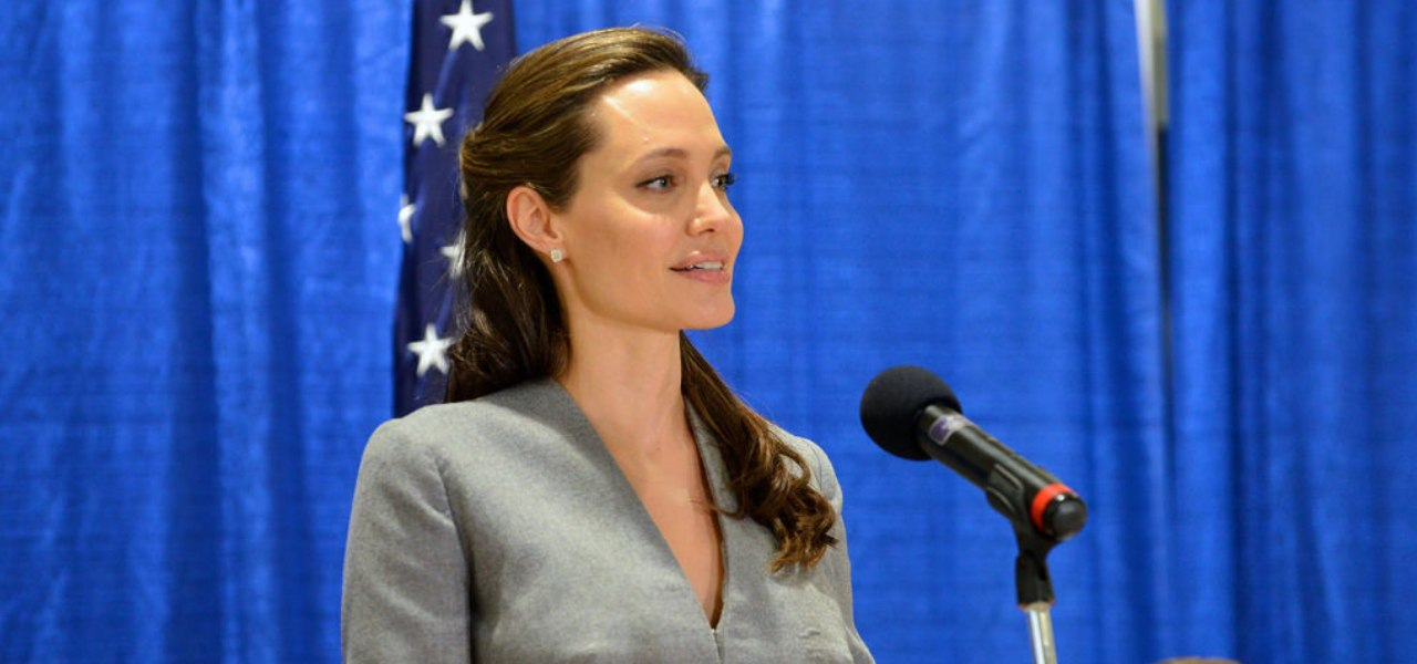 Angelina Jolie speaking at the UN summit