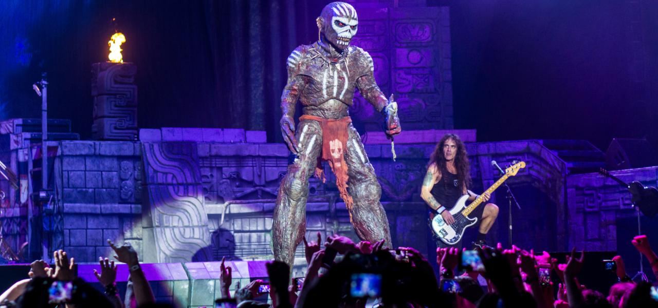 Iron Maiden perform in O2 Arena on 25th of May, 2017.