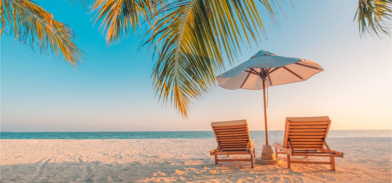 Tranquil beach scene in Hawaii