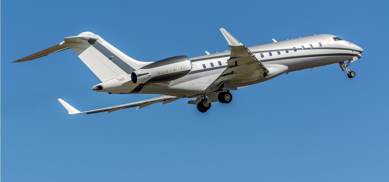 Bombardier Global 6000 en plein vol
